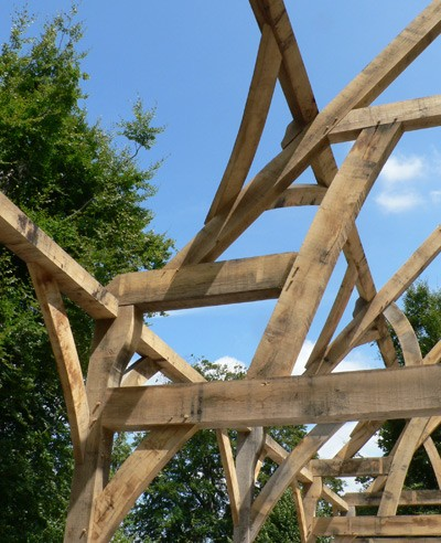 Oak frame building - Interesting Timbers