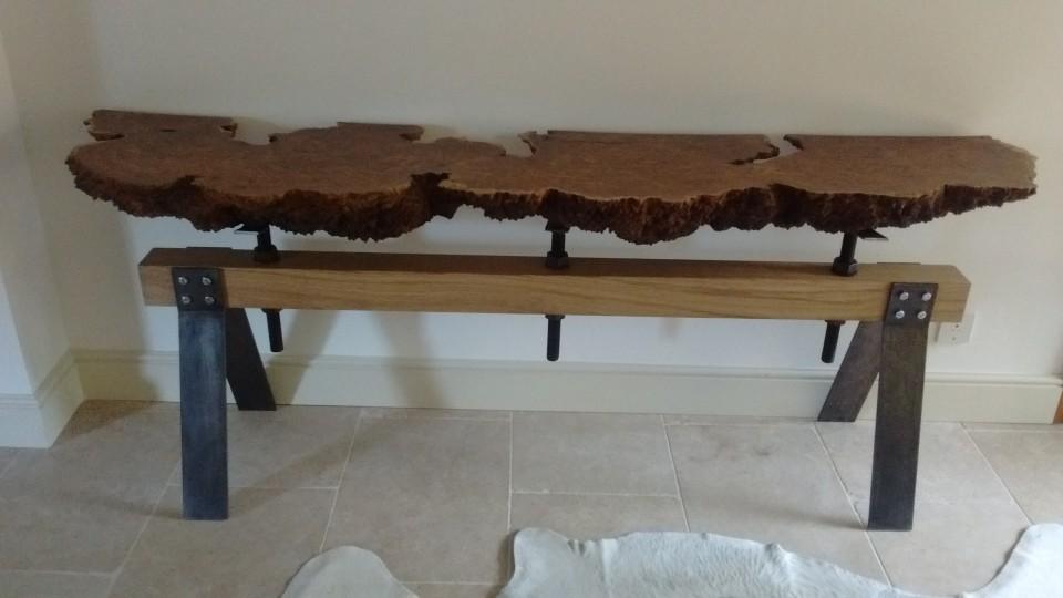 ... Burr Oak Side Table