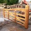 Bespoke Oak gate crafted by Interesting Timbers
