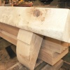 Bespoke fireplace shelf crafted by Interesting Timbers