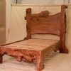 Waney Edged Burr Elm bed crafted by a client from our timber