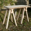 Waney Edge Table Top and Trestle Legs
