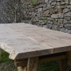 Pippy Oak Waney Edged Table, produced from 3 boards