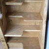 Oak Staircase with alternating Steps