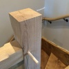 Oak Staircase Hand Rail, Designed & Made by David